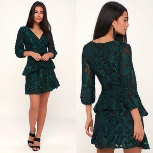 Lulu's   New Journey Velvet Dress